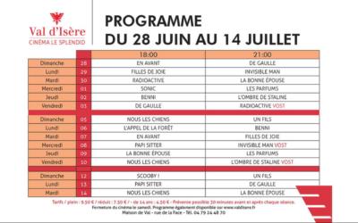 Programme du cinéma de Val d Isère